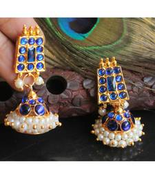 Beautiful Blue Pearl Designer Jhumka