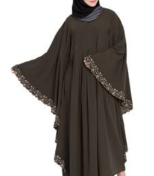Olive Green Kashiboo Embroidered Kaftan Abaya With Hijab
