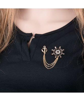 Anchor Collar Brooch Pin