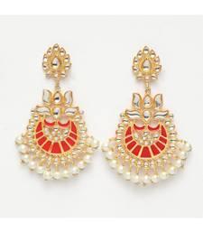 899edd65ab5 Mehar Red Pearl Ethnic Earrings