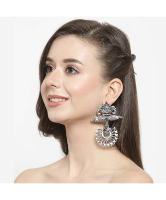 Mayurika Oxidised Ethnic Earrings