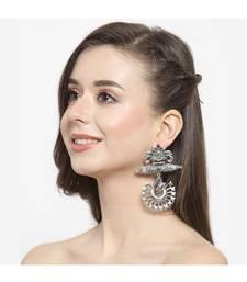 Mayurika Oxidised Ethnic Earrings