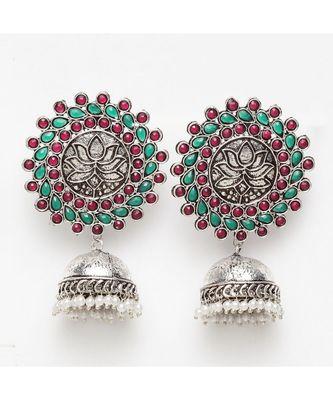 Mrinal Oxidized Ethnic Earrings