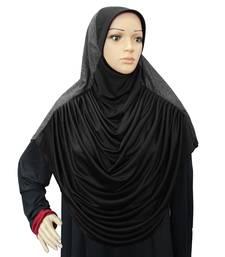 Faeezah Tooba Hijab Black-xl