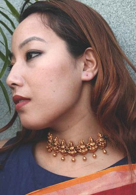 Delicate Temple work Choker Necklace