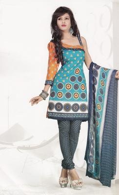 Crepe Dress Material Elegant Designer Unstitched Salwar Suit D.No 4305