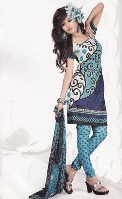Crepe Dress Material Elegant Designer Unstitched Salwar Suit D.No 4309