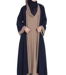 Dual color Kimono Kashiboo Solid Abaya With Hijab