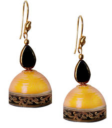 Yellow Quilled Jhumkas