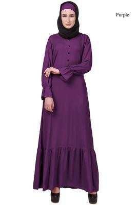MyBatua Purple Rayon Bushra Abaya