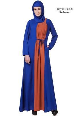 MyBatua Blue Rayon Habiba Abaya