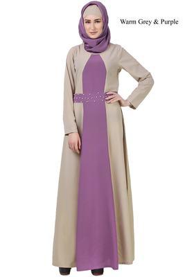 MyBatua Purple Crepe Parvina Abaya