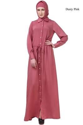MyBatua Pink Crepe Ayaat Abaya