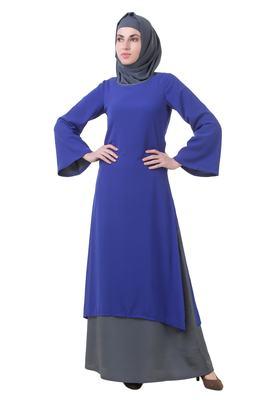 MyBatua Blue Crepe Najah Abaya