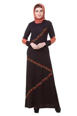MyBatua Black Rayon Rasmiyah Abaya