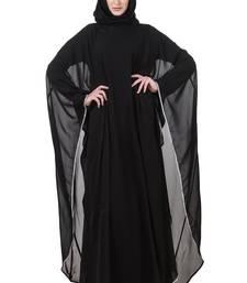 MyBatua Grey Jersey Black Nida Dubai Batwing Abaya