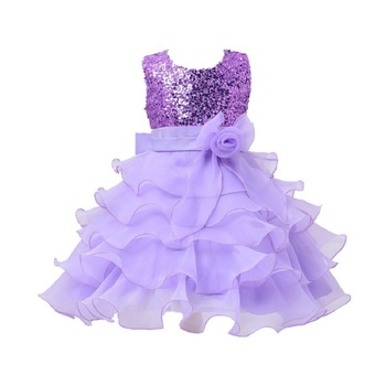 Purple Plain Tissue Kids Frocks