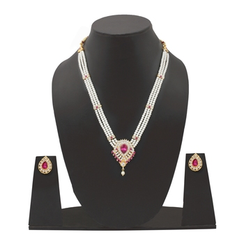 White Pearl Jewellery Set For Women