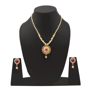 Mini Gayatri MOTI  Necklace Set For Womens And Girls