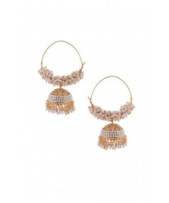 Pearl Hoops With Jhumki