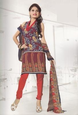 Crepe Dress Material Elegant Designer Unstitched Salwar Suit D.No 4314