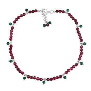 Multicolor quartz anklets
