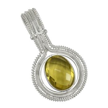 Yellow topaz pendants