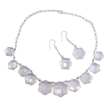 Pink Quartz   Necklace Sets