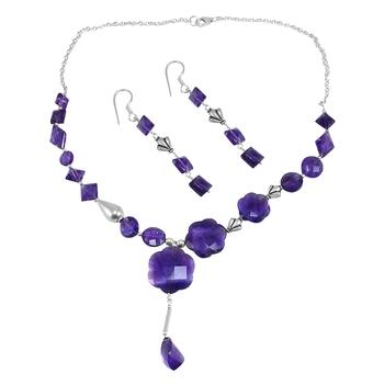 Purple Amethyst   Necklace Sets