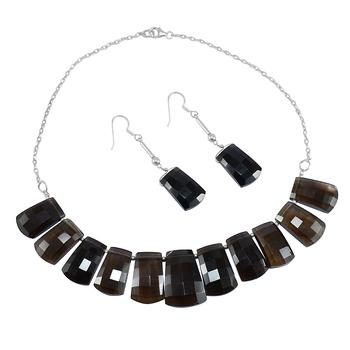 Brown Quartz   Necklace Sets