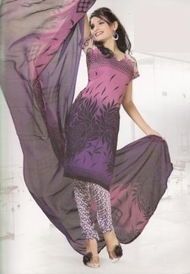 Crepe Dress Material Elegant Designer Unstitched Salwar Suit D.No 4320