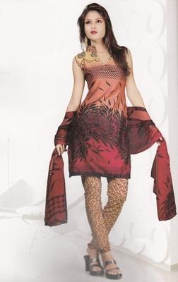 Crepe Dress Material Elegant Designer Unstitched Salwar Suit D.No 4321