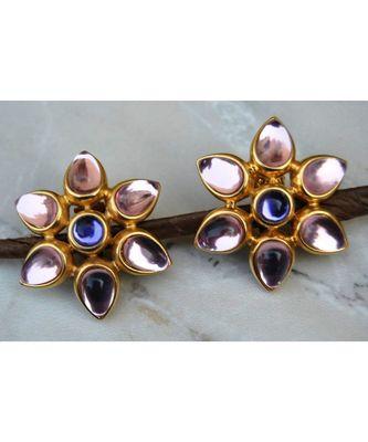 Pink floral Stud Earrings