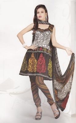 Crepe Dress Material Elegant Designer Unstitched Salwar Suit D.No 4323