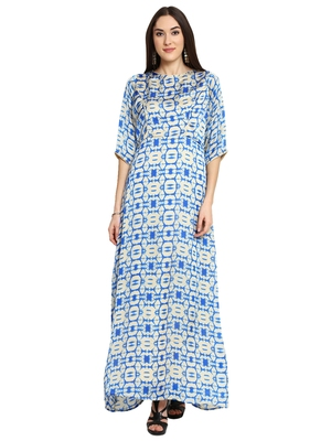 Faun Blue Printed Maxi Dress