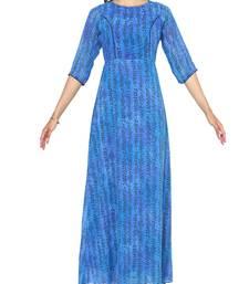 Royal Blue A-Line Maxi Dress
