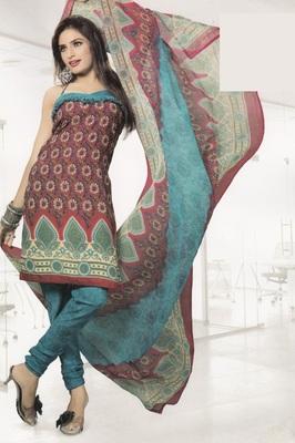 Crepe Dress Material Elegant Designer Unstitched Salwar Suit D.No 4332
