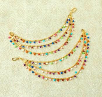 Multicolor ear-cuffs