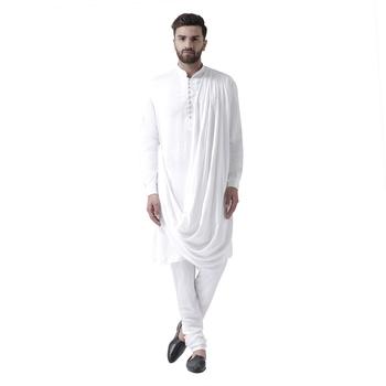 White Plain Pure Viscose Rayon Kurta Pajama