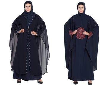 Crepe Combo Abaya (Set Of 2)