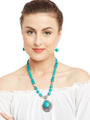 Green Plain Festival Necklace Sets