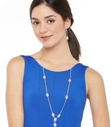Silver Plain Bridal Necklace Sets