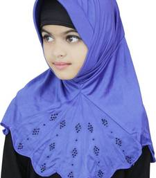 Blue Plain Poly Cotton Hijab