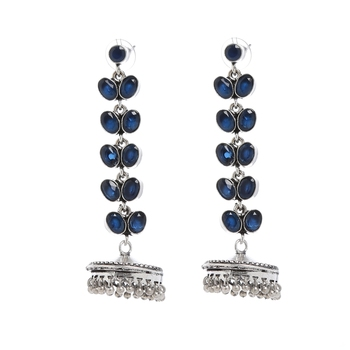 Blue Plain Casual Danglers Drops
