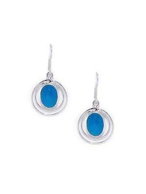 Blue Bridal Plain Danglers Drops
