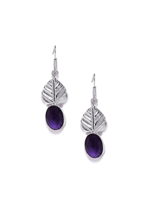 purple casual plain danglers drops