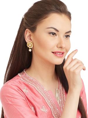 Gold Kundan Bridal Danglers Drops