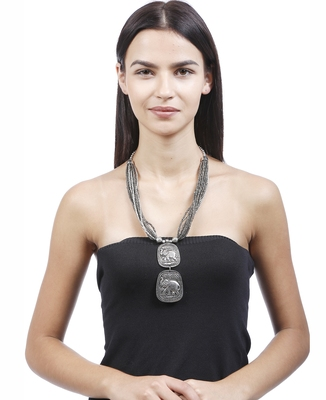 Silver Plain Casual Necklaces