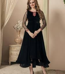 Black Embroidered Velvet Islamic Kaftans