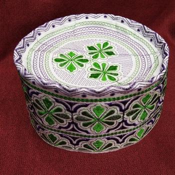green islamic prayer cap